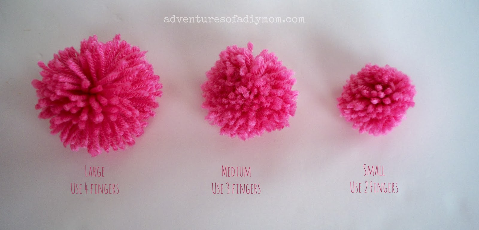 how to make pom poms out of yarn