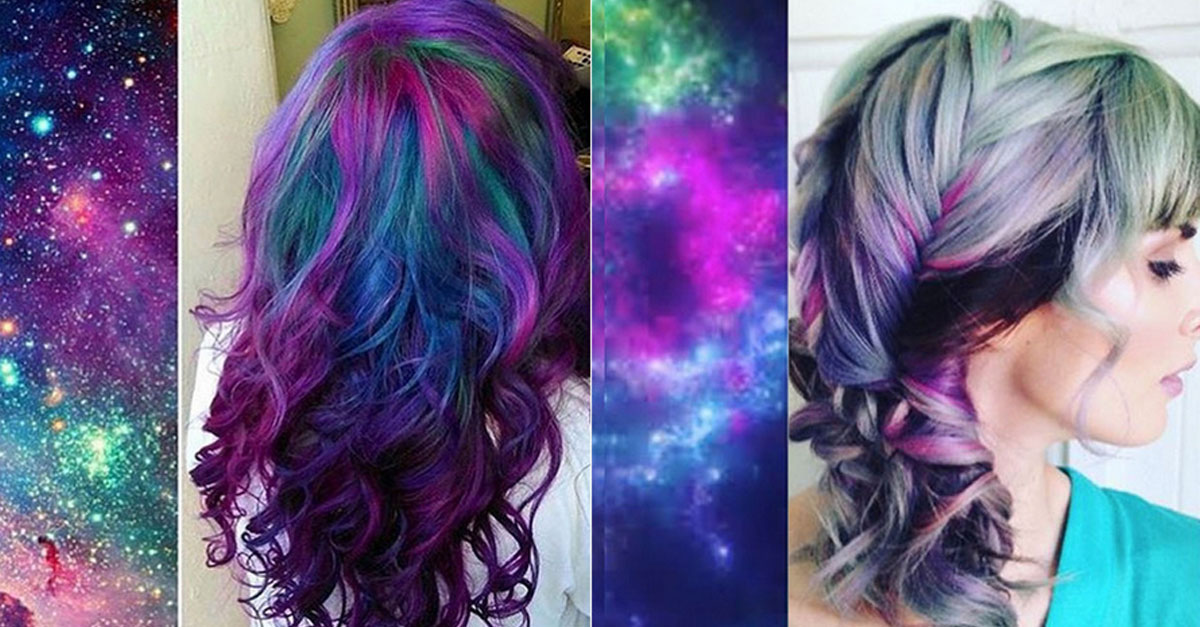 Galaxy Hair Is The New Trend In Hair Color And Its Out Of This World