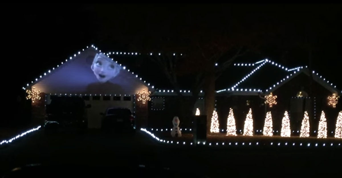 This U201cFrozenu201d Light And Music Display Is Incredible! Design Ideas