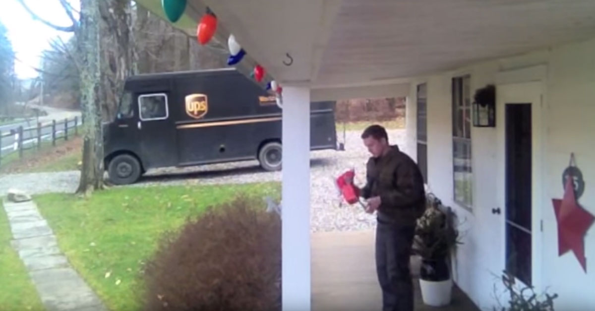 After Getting A Christmas Tip, This UPS Driver Gets Jiggy. – Good Thing It Was Caught On Camera!