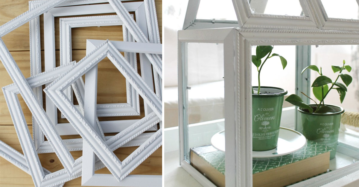 Upcycle Those Old Picture Frames and Create an Adorable Greenhouse ...