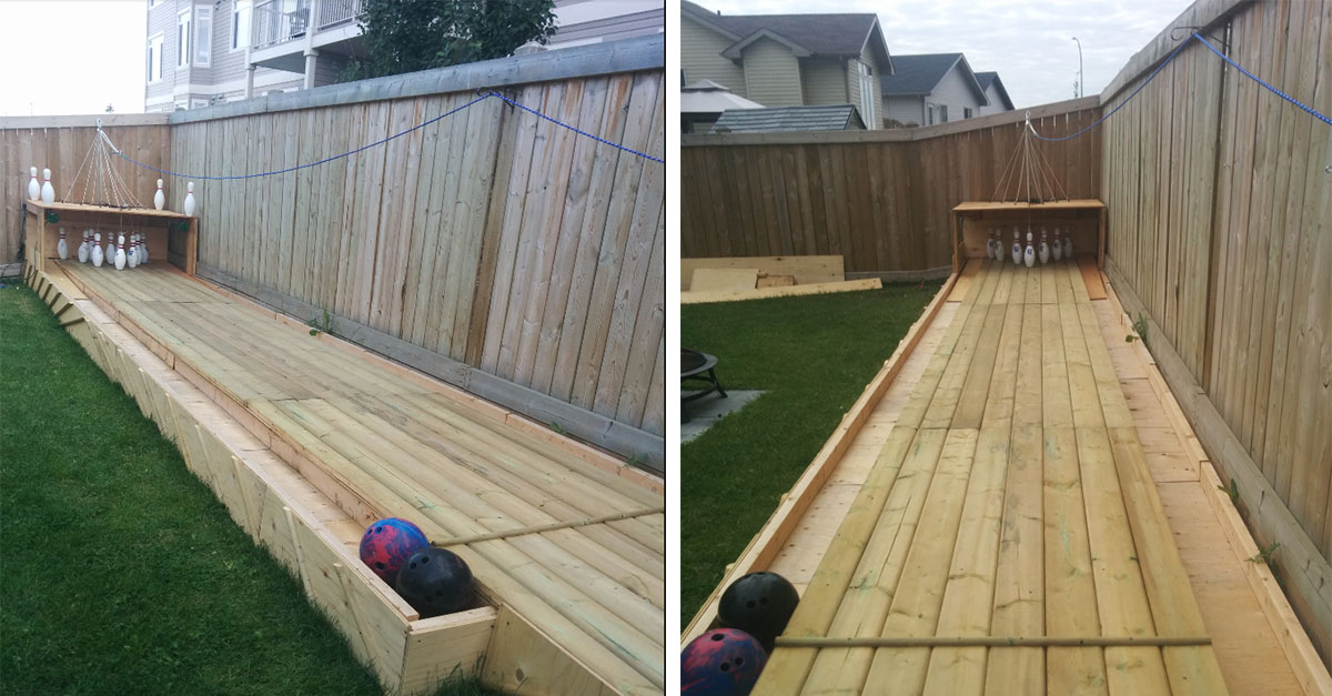 - Man Builds Huge Bowling Alley In His Backyard