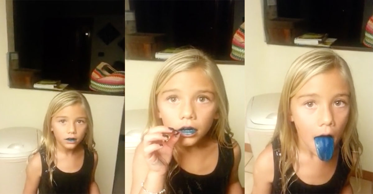 Mom Catches Daughter After Eating Blue Food Coloring