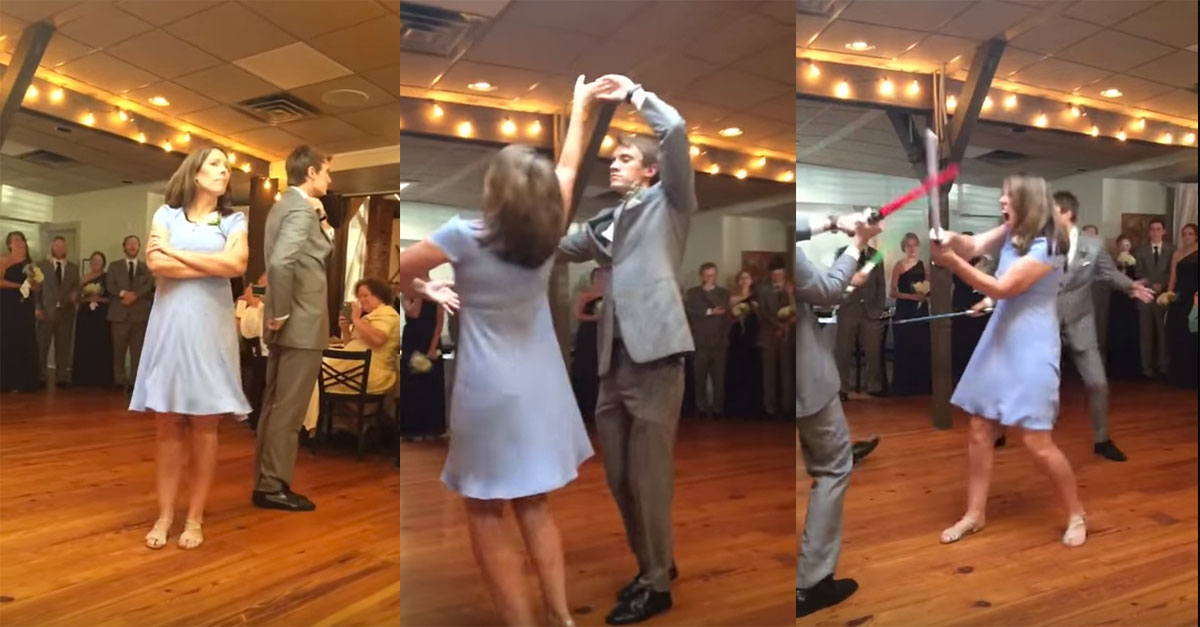 Mother And Son Perform Wedding Dance To Star Wars Theme Song