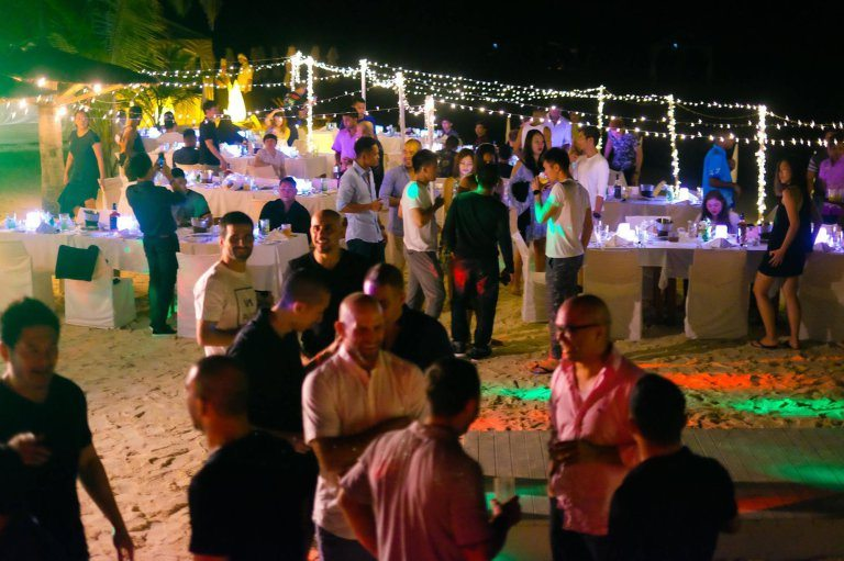 "Pic shows: Employees during the 2016 EVOLVE Annual Retreat that took place in Maldives; The MMA boss has splashed the cash to take his lucky employees on a luxury all expenses trip to the Maldives. Evolve Mixed Martial Arts founder and chairman Chatri Sityodtong states the company has seen a 30 percent year-on-year growth, and he wanted to thank his employees for their hard work and dedication. He splashed out a whopping $500,000 (392k GBP) to reward 100 employees with the five-star all-inclusive holiday to the paradise island. And this isn't the first time he has taken his workers for a treat. He calls the holidays a ""normal part of Evolve culture"" with the group enjoying previous holidays to luxurious destinations such as Bali, Krabi, Khao Lak and Bintan in Indonesia for the past five years. He said: ""These rewards are a small token of my heartfelt gratitude to all of the phenomenal rockstars at Evolve MMA. ""Every year, I take the entire team on an all-expenses-paid trip to a five-star luxury resort at a surprise destination."" The company's support staff and world champion trainers joined members of Evolve's fight team, including ONE Women's Atomweight World Champion Angela Lee, on the expensive getaway. ""Many of my staff would love to travel the world, but do not have the means to do so,"" he continued. ""The vast majority of my team at Evolve come from humble backgrounds of poverty, tragedy, or adversity. For them, Evolve is the greatest opportunity to escape poverty and to achieve the life of their dreams. ""The best deserve the best. It is only fair. We do our best to hire the best people in the world, giving out only one job offer for every 200 applicants. So they should be compensated as such. We work hard, and we play hard. ""Evolve has the best team in the world. I am very confident in my team. I believe in them 100 percent."" The entrepreneur said the holidays will continue for the foreseeable future but joked he has not yet planned 2017's spectacular just yet. He said: ""The world is a big place! I don't know where our annual retreat will be held next year, but I hope to take them to another spectacular place."""