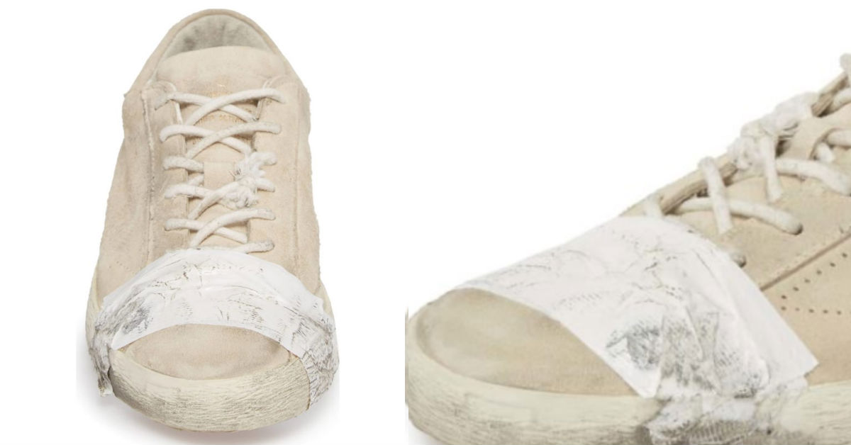 dccb4c5b62b0 These Ripped And Taped Up Shoes Cost  530 And They Are Selling Out At Major  Retailer