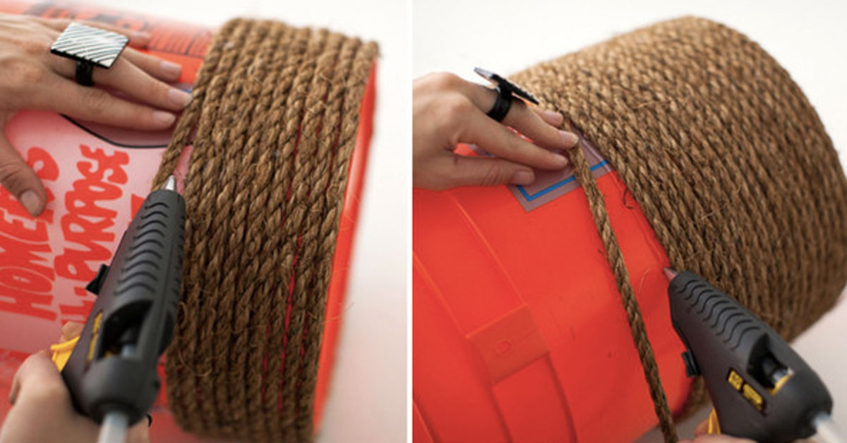 Don T Buy Poufs At The Store Make Your Own Diy Rope Pouf