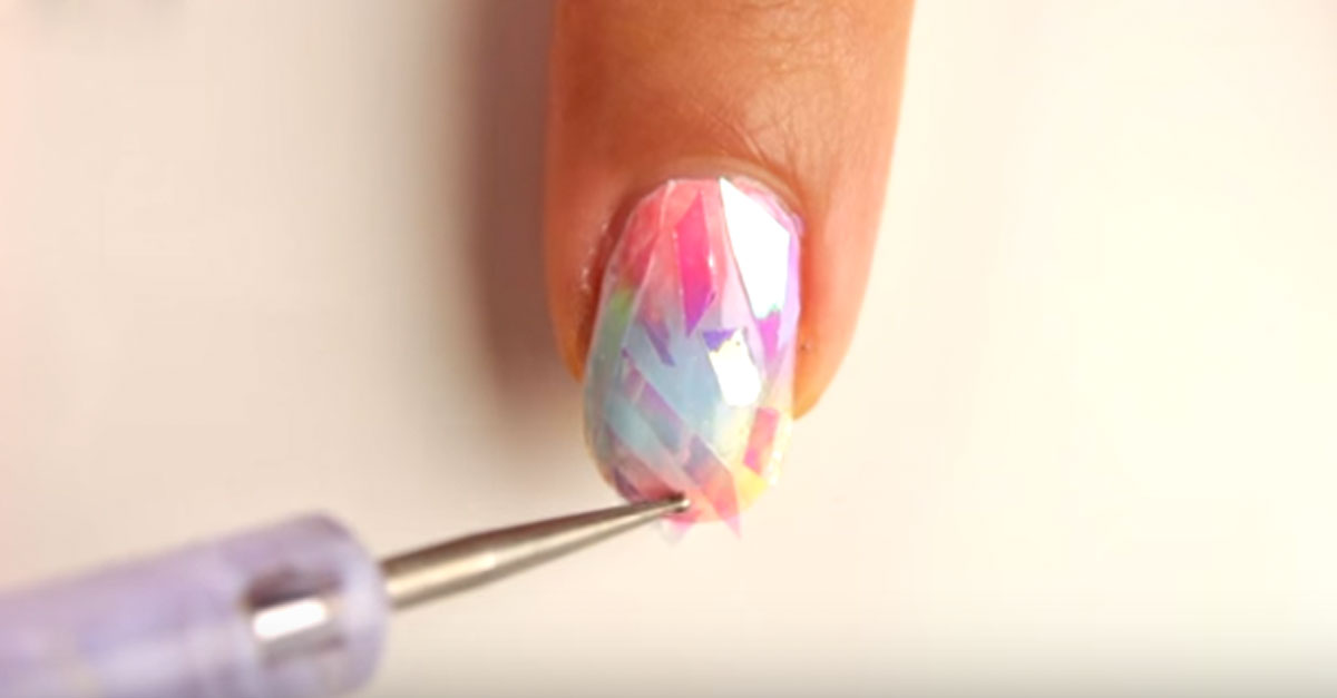Try This Shattered Glass Trend For Fabulous Nails