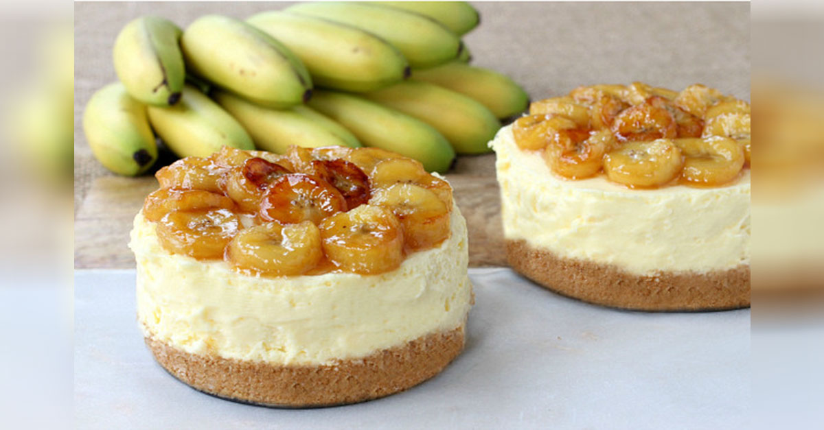 Delectable And Divine Banana Rum Cheesecake