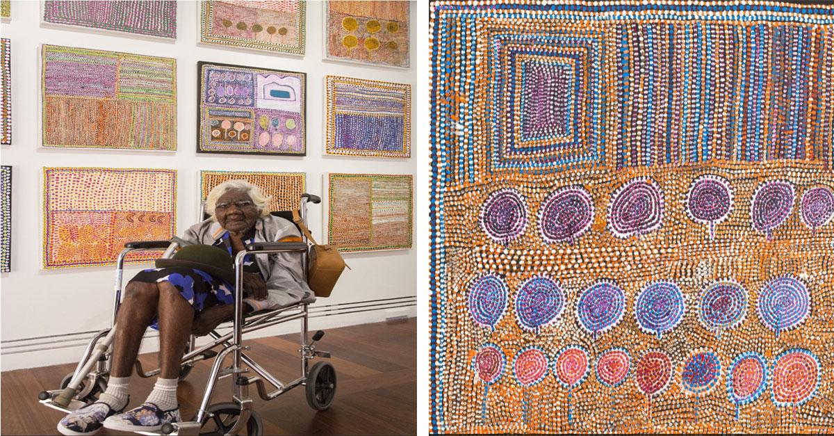 Australia's Oldest Painter Creates Dazzling Works Of Aboriginal Art