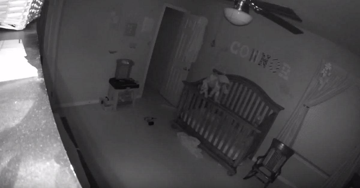 Mom Discovers Baby Incredibly Balancing On The Crib While They're Sleeping