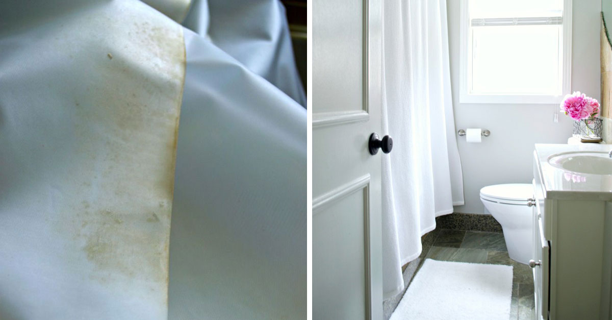 Clean Your Vinyl Shower Curtain With This Simple Tutorial