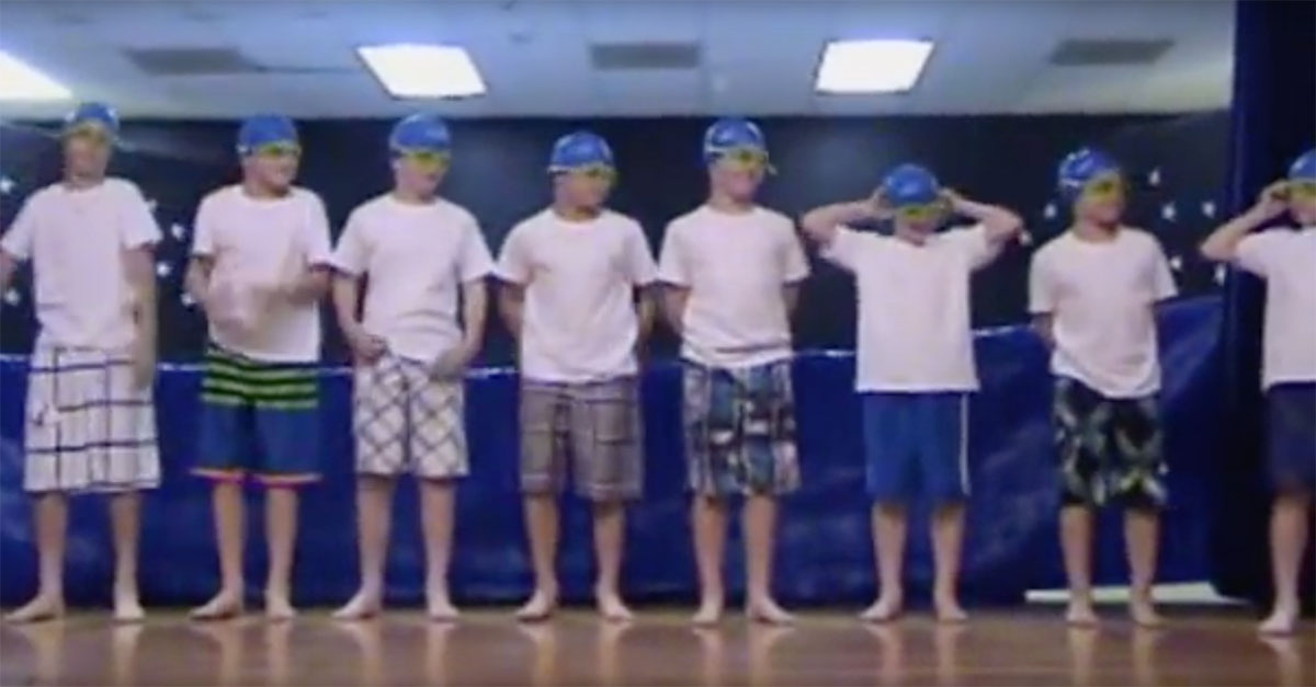 This 5th Grade Boys Synchronized Swimming Talent Show Skit Is Just Too Cute
