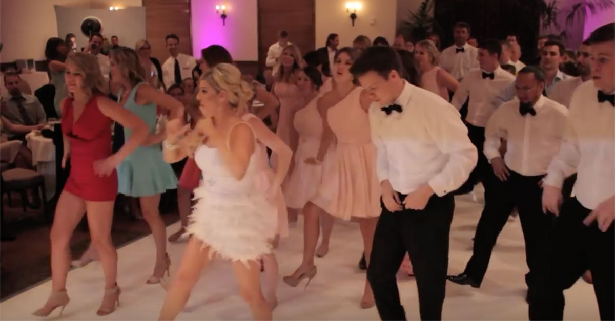 Wedding Party Creates An Epic Flash Mob For The Reception