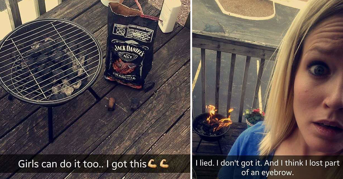 Girl Snapchats Hilarious Process Of Grilling Burgers For The First Time