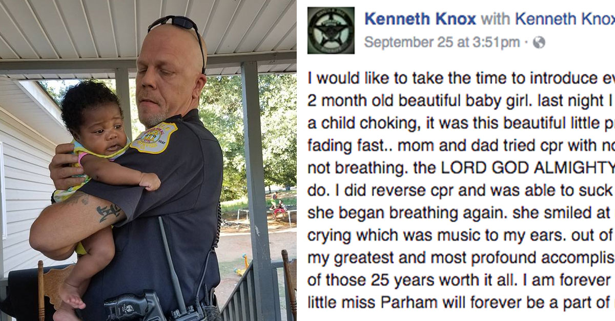 A Life-Changing Rescue: Officer Who Saved Choking Baby