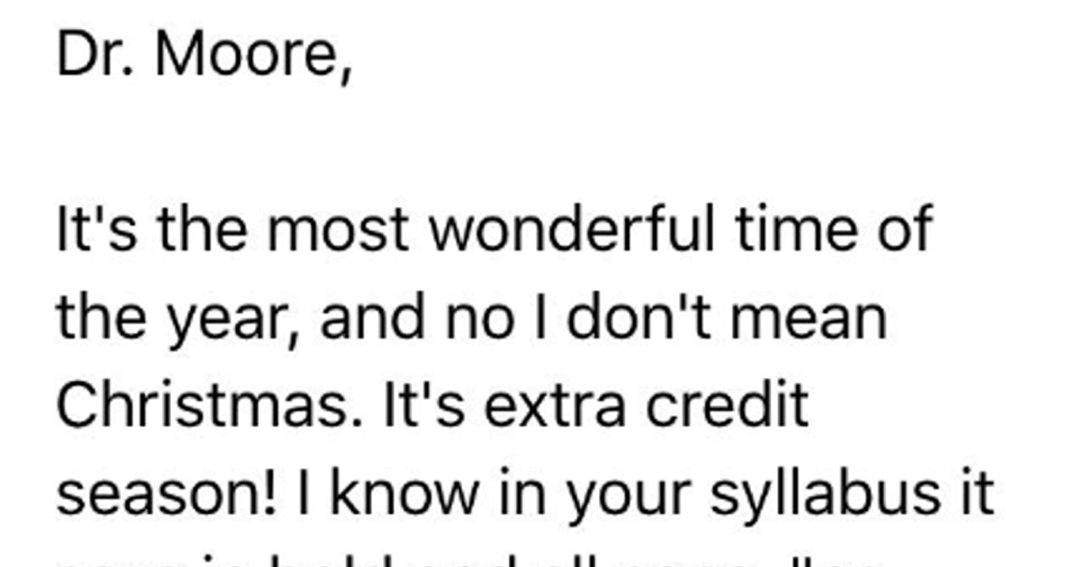 Student Wins Extra Credit Points On Final For Making Teacher Laugh