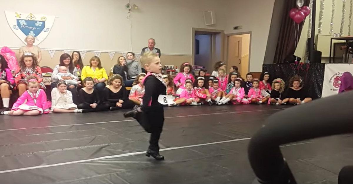 Little Boy Steals The Show When He Starts Kicking His Feet