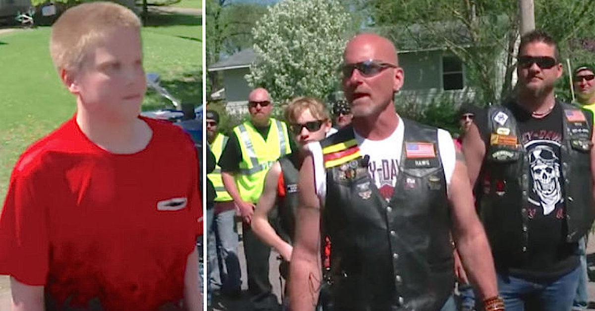 These Bikers Stormed The Neighborhood Looking For A Bullied Teen Who Steps Out To Confront Them