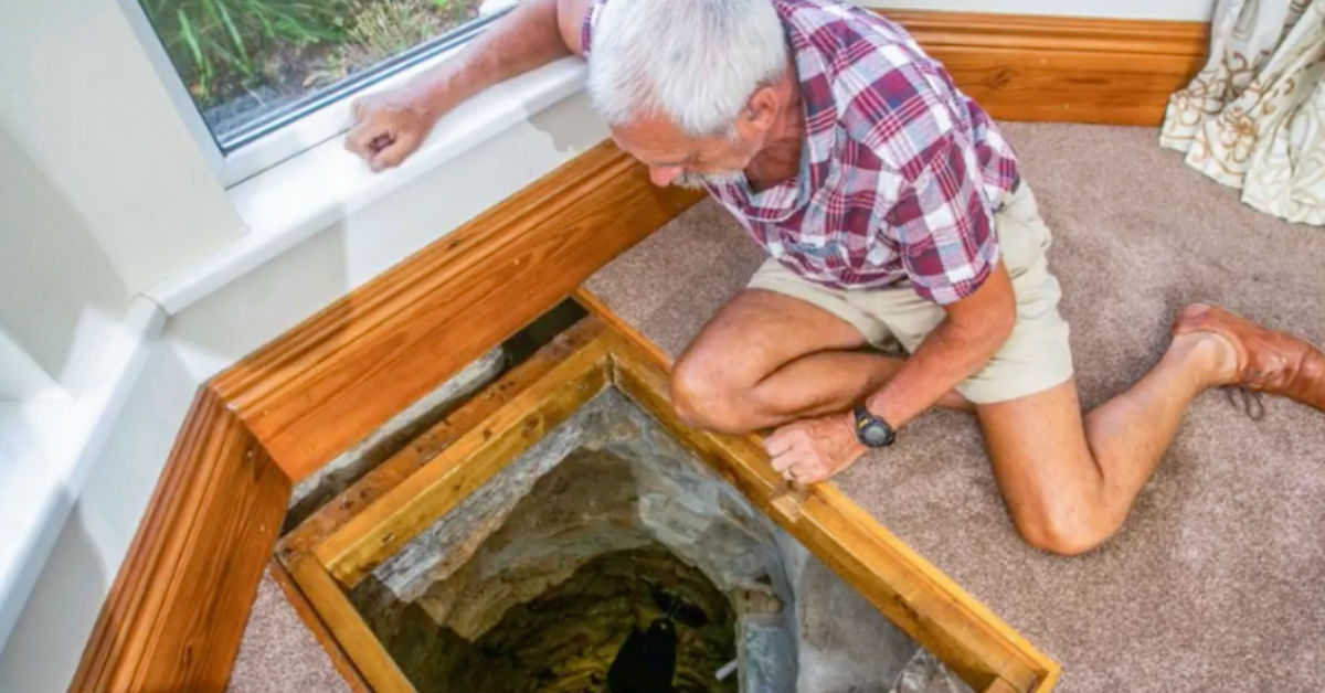 Man Finds Tunnel Under His Living Room Floor